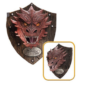 "The Hobbit: The Desolation of Smaug ""Smaug the Terrible"" Dragon Head 30"" Resin Mounted Trophy - Official Rubies :: Mental XS Online"