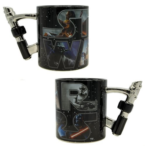 Star Wars 3D Lightsaber 20 oz. Ceramic Mug - Official Unisex :: Mental XS Online