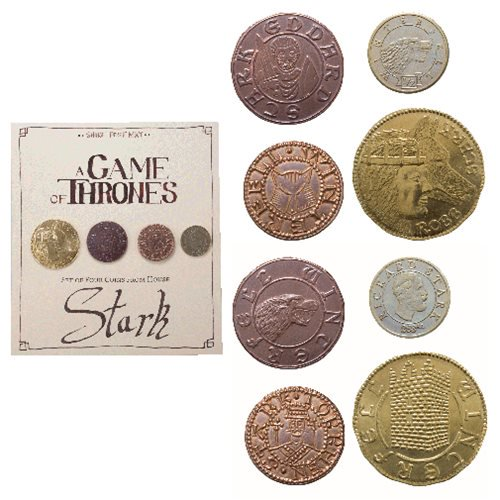 Game of Thrones Stark 4-Pack Coin Set - Official Shire Post Mint :: Mental XS Online