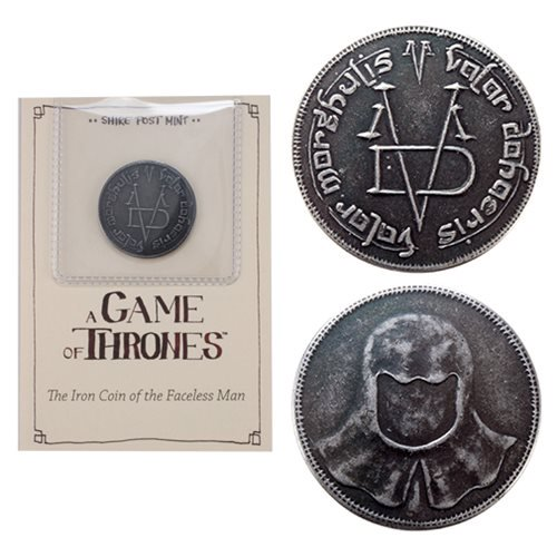 Game of Thrones The Iron Coin of the Faceless Man - Official Shire Post Mint :: Mental XS Online
