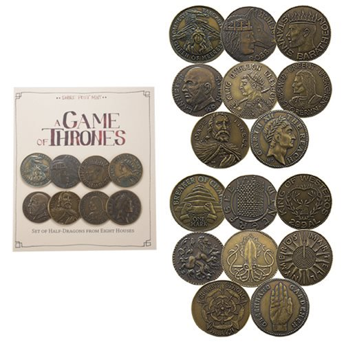 Game of Thrones House Half-Dragons 8-Pack Coin Set - Official Shire Post Mint :: Mental XS Online