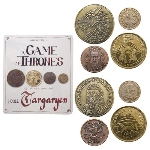 Game of Thrones Targaryen 4-Pack Coin Set - Official Shire Post Mint :: Mental XS Online
