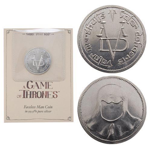 Game of Thrones 999 Pure Silver Faceless Man Coin - Official Shire Post Mint :: Mental XS Online