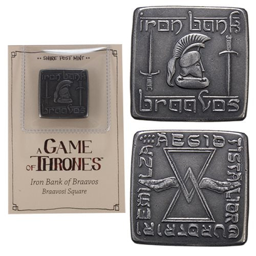 Game of Thrones Braavosi Iron Square Coin - Official Shire Post Mint :: Mental XS Online