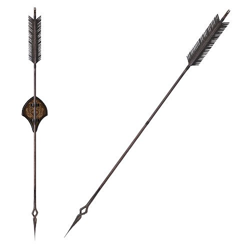 The Hobbit Bard the Bowman Black Arrow Prop Replica - Official United Cutlery :: Mental XS Online