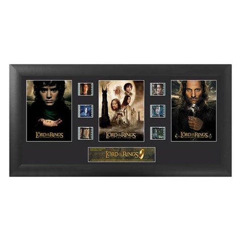 "Lord of the Rings Series 1 Trilogy Film Cell Display [11"" x 20""] - Filmcells Ltd Limited Edition 2,500 Pieces :: Mental XS Online"