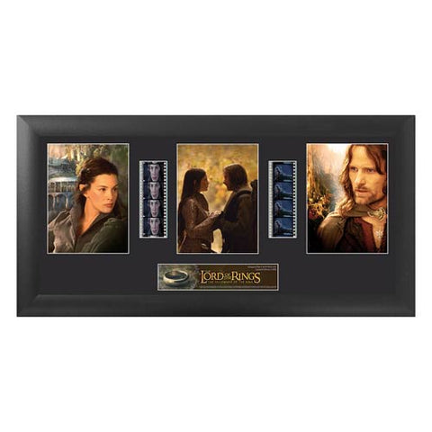 "Lord of the Rings: Fellowship Trio Film Cell Display [11"" x 20""] - Filmcells Ltd Limited Edition 2,500 Pieces :: Mental XS Online"