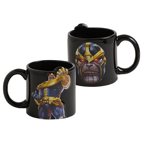 Marvel Future Fight Thanos 20 oz. Bas Relief Ceramic Mug - Official Vandor :: Mental XS Online