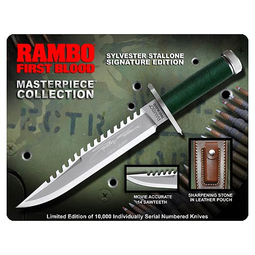 Gil Hibben Rambo First Blood Sylvester Stallone Edition Knife - Official Hollywood Collectibles Group Limited Edition 10,000 :: Mental XS Online