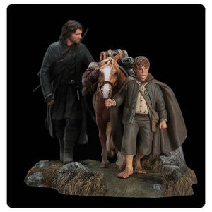 "Lord of the Rings: Fellowship Aragorn, Sam and Pony Set 3 Statue [5½"" x 7½""] - Weta Collectibles - Official Weta Collectibles  :: Mental XS Online"