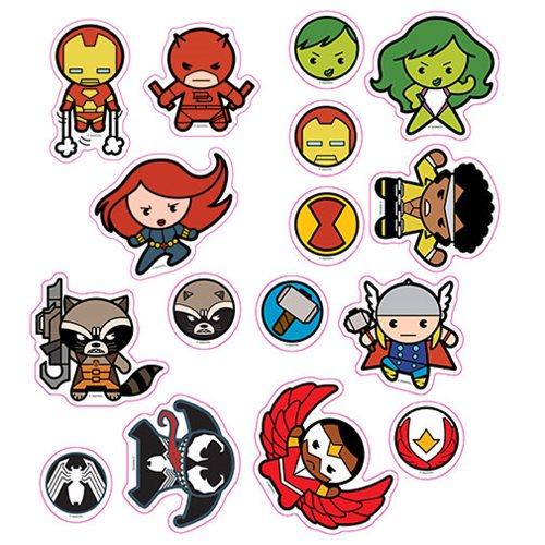 Marvel Kawaii Character Car Graphics Set 1 - Official Elephant Gun :: Mental XS Online