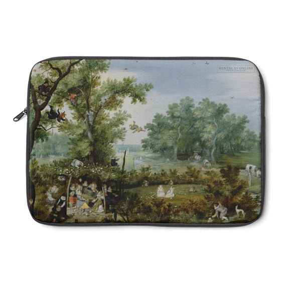 Merry Company in an Arbor by Adriaen van de Venne Laptop Sleeve from Mental XS Online