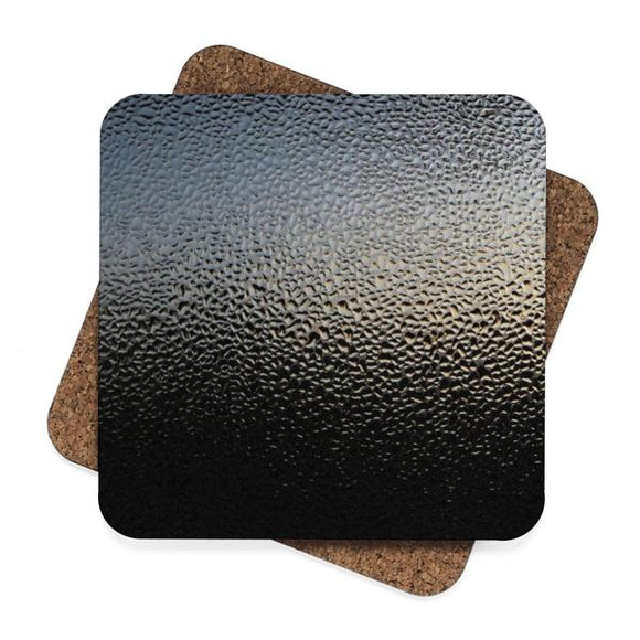 Frosted Metal Square Premium Hardboard Coasters 4-Pack :: Mental XS Online