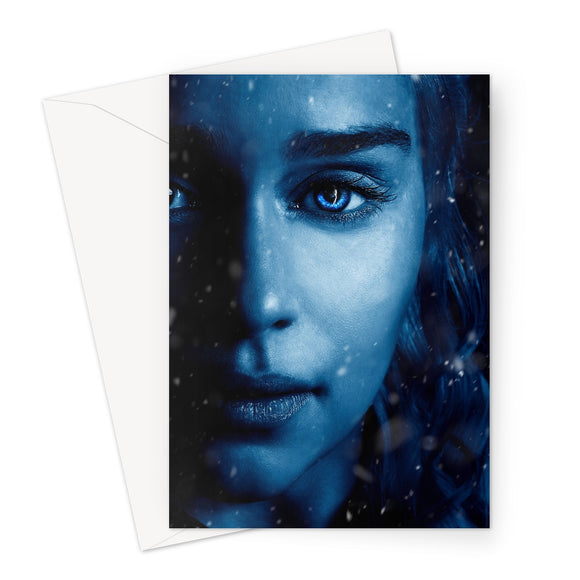 Game of Thrones 7 Daenerys Blue Greeting Card
