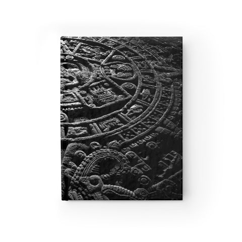 "Aztec Calendar Hardcover Lined Journal 8"" x 5"" (Front) from Mental XS Online"