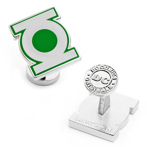 DC Comics - Green Lantern Symbol Silver Cufflinks - Official Cufflinks Inc :: Mental XS Online