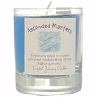 Crystal Journey Candles Blue Ascended Masters Herbal Soy Votive Glass Candle 2½