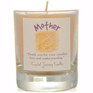 Crystal Journey Candles Yellow Mother Herbal Soy Votive Glass Candle 2½""