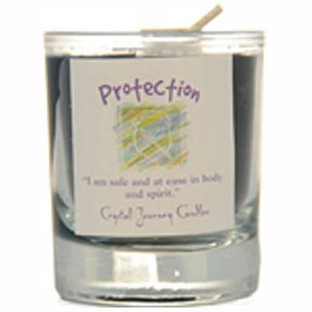 Crystal Journey Candles Black Protection Herbal Soy Votive Glass Candle 2½