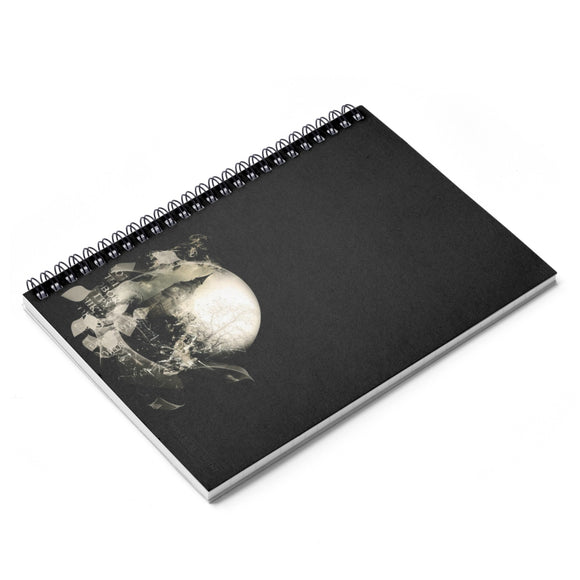 London Black Lined Spiral Notebook [8