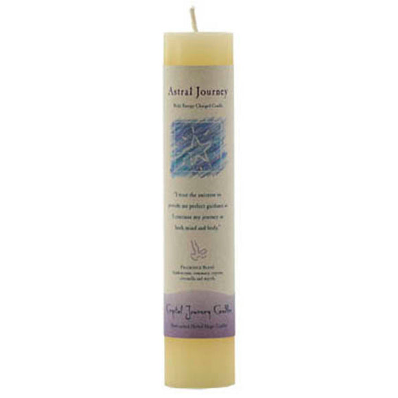 Crystal Journey Candles Cream Astral Journey Reiki-Charged Pillar Candle 7