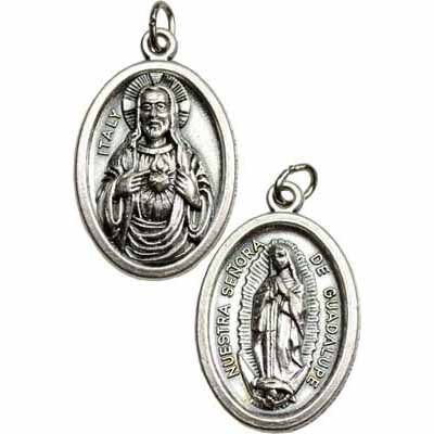 Our Lady of Guadalupe Amulet Pewter Pendant :: Mental XS Online