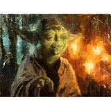 "Star Wars Episode V: The Empire Strikes Back ""Master Yoda"" Unframed Canvas Giclee Fine Art Print by Christopher Clark [21"" x 28""] - Acme Archives Limited Edition 95 Pieces :: Mental XS Online"