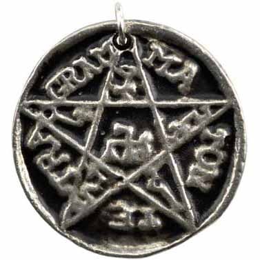 Pentacle of Solomon Amulet Pewter Pendant (has cord) :: Mental XS Online