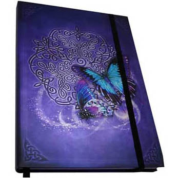Celtic Butterfly Metallic Accented Embossed Unlined Journal by Brigid Ashwood (8