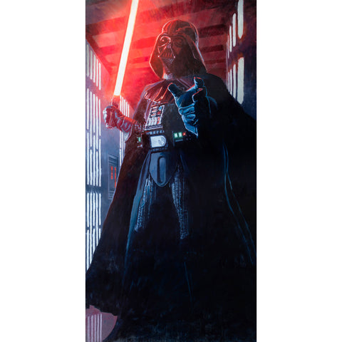 "Star Wars Episode IV: A New Hope ""Confronting Vader"" Unframed Life-size Canvas Giclee Fine Art Print by Cliff Cramp [7 ft x 3½ ft] - Acme Archives Limited Edition 77 Pieces from Mental XS Online"