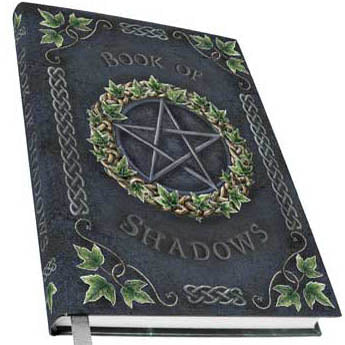Ivy Celtic Pentacle Book of Shadows Metallic Accented Embossed Hardcover Unlined Journal (7