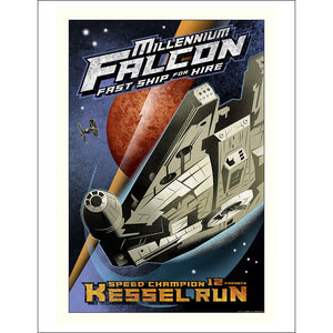 "Star Wars ""Kessel Run"" Unframed Paper Giclee Fine Art Print by Mike Kungl [22"" x 17""] - Acme Archives Limited Edition 125 Pieces from Mental XS Online"