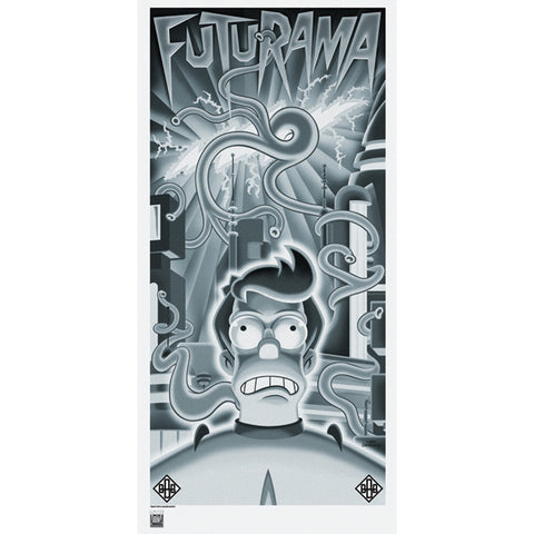 "Futurama ""Beast with a Billion Backs Fry"" Unframed Metallic Lithograph [32"" x 17""] - Acme Archives Limited Edition 1,000 Pieces :: Mental XS Online"