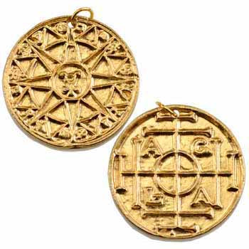 Gold A.G.L.A Magical Talisman Pewter Pendant (has cord) :: Mental XS Online