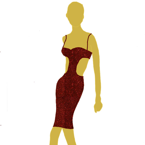 CutOut Bodycon (US 4-14) from Afterdark by Katerina :: Mental XS Online