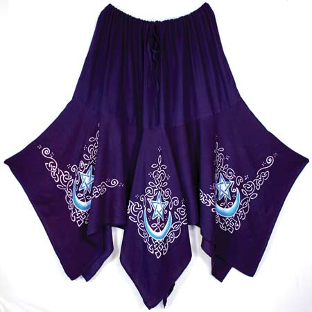 Celtic Moon Long Skirt purple