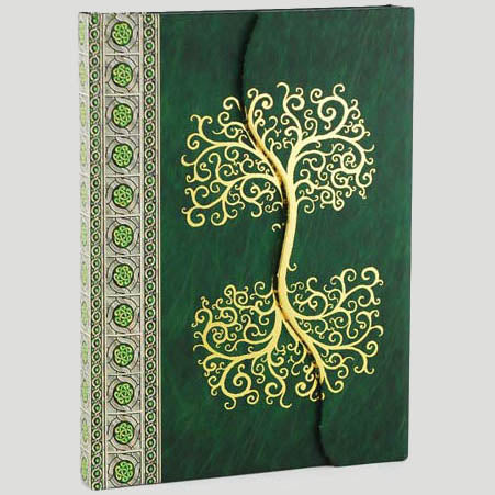 Celtic Tree of Life Magnetic Wrap-around Hardcover Unlined Journal (7