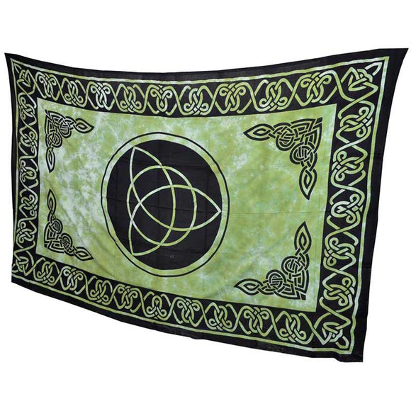 Green & Black Triquetra Tie-dyed Tapestry 72