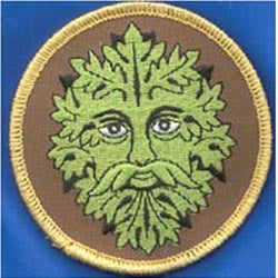 Green Man Iron-on Patch 3