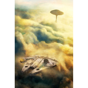 "Star Wars Episode V: The Empire Strikes Back ""Leaving Bespin"" Unframed Canvas Giclee Fine Art Print by Cliff Cramp [30"" x 20""] - Acme Archives Limited Edition 95 Pieces :: Mental XS Online"