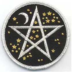 Starry Pentacle Iron-on Patch 3