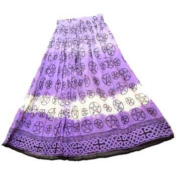 Purple Pentacle Tie-dyed Skirt