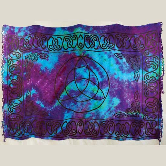 Triquetra Tie-dyed Sarong