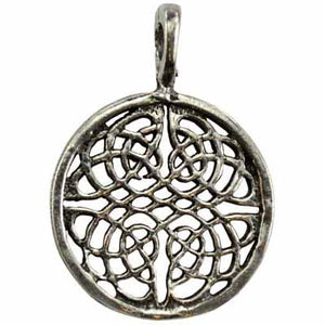 Life's Pattern Celtic Knot Maze Amulet Pewter Pendant (has cord) :: Mental XS Online