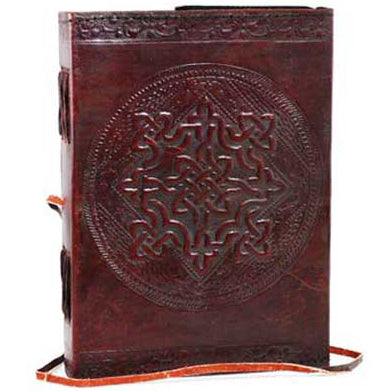 Celtic Cross Embossed Leather Unlined Journal with Cord (7