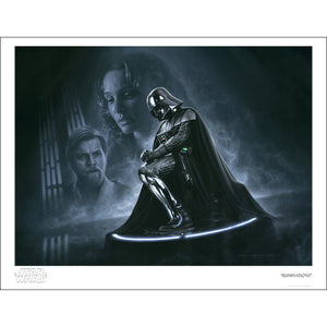 "Star Wars ""Darth Vader Ruminations"" Art Print by Jerry Vanderstelt [22"" x 17""] - Acme Archives Limited Edition 150 Pieces :: Mental XS Online"