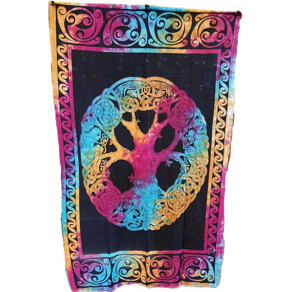 Mandala Tree of Life Tie-dyed Tapestry 54
