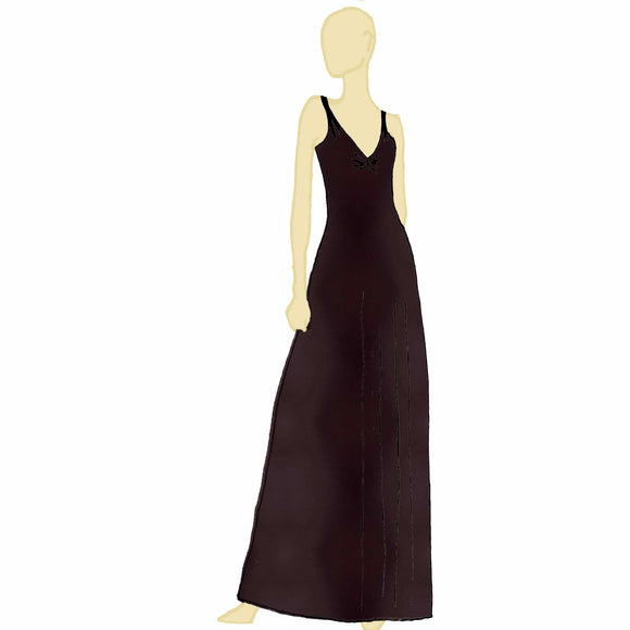 Backless Jersey Maxi Dress