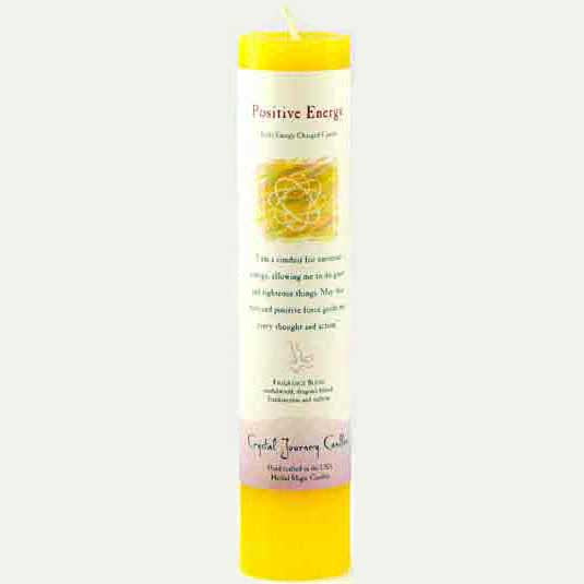 Crystal Journey Candles Yellow Positive Energy Reiki-Charged Pillar Candle 7