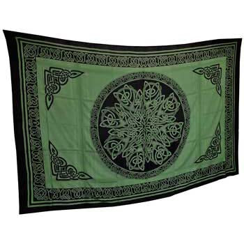 Green & Black Ancient Celtic Knot Tapestry 72